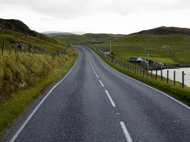 A971 towards Hellister