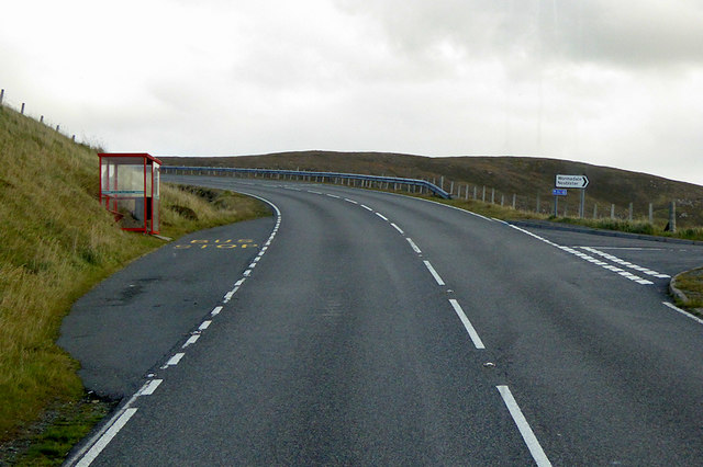 Bus Stop on the A971 near Wadbister