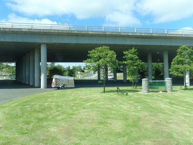 The A1 viaduct over the B113