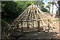 SJ5359 : Bronze Age Roundhouse reconstruction at Beeston Castle by Jeff Buck