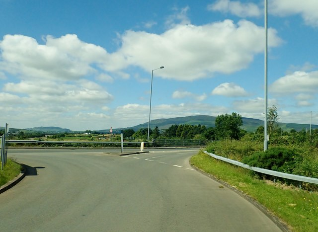 The Dublin Road (B113) interchange on the A1