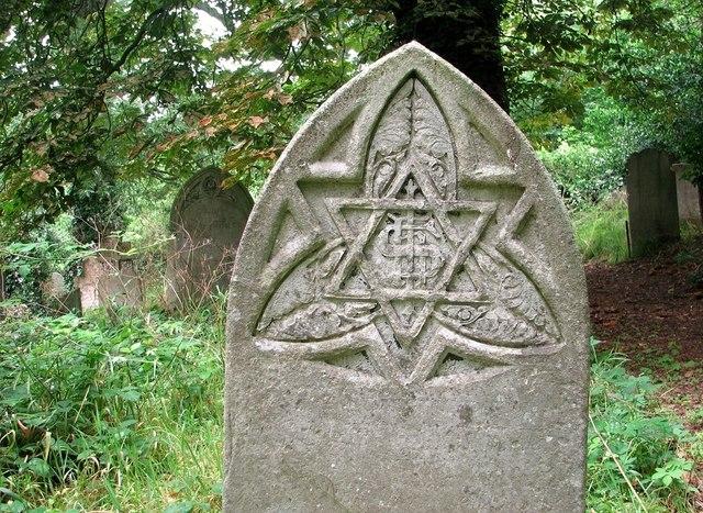 Gravestone symbolism (IHS)