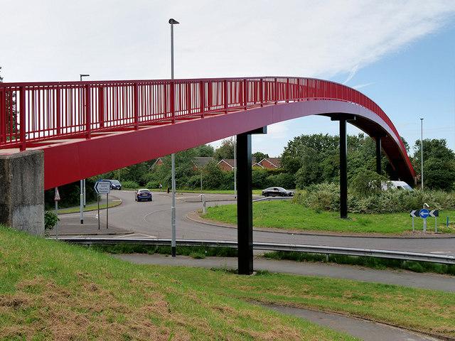Red Footbridge over Westbrook Way