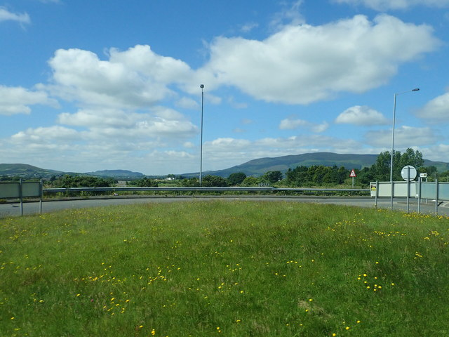 Eastern roundabout on the B113/A1 interchange