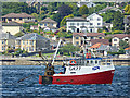 """NS1877 : Fishing boat """"Guide Us"""" in the Firth of Clyde by Thomas Nugent"""