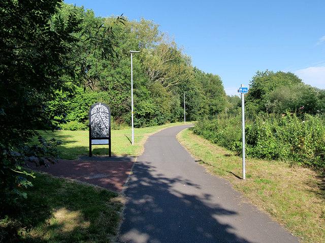 Path along Whittle Brook, Great Sankey