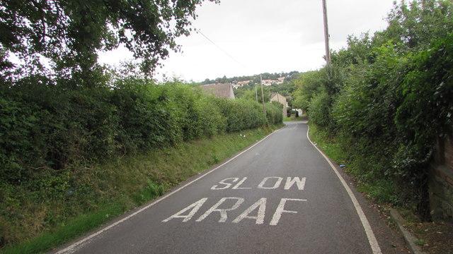 SLOW/ARAF on Bettws Hill, Newport