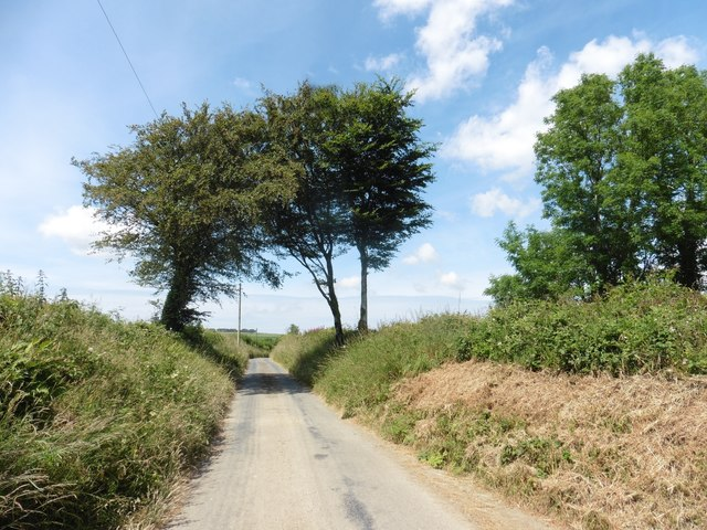Minor road to Thornpark Cross