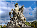 SJ4160 : Equestrian Statue at Eaton Hall by Jeff Buck