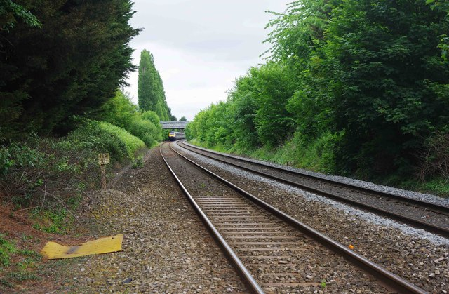 Railway tracks at St. John's, looking in the direction of Foregate Street Station, Worcester