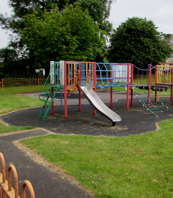 In Britains Playgrounds Bringing In >> Children S Slide In Bute Town Playground C Jaggery Cc By