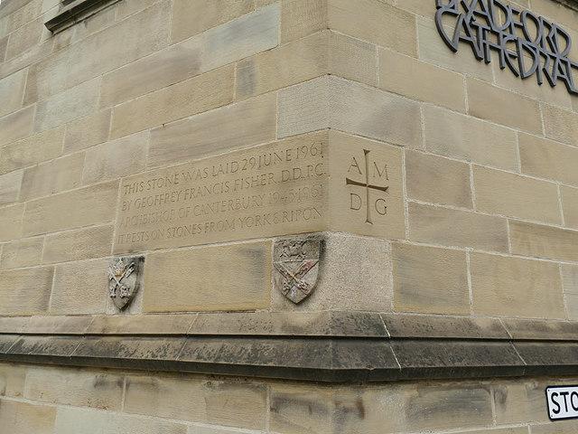 Datestone on Bradford Cathedral