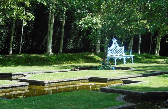 Blue Chair in a Water Garden