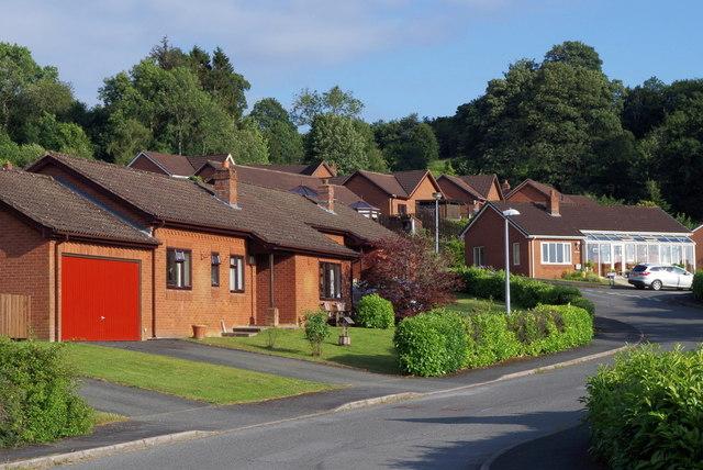 "Houses on ""Woodlands"" in Llandrindod Wells"