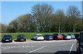 SU3075 : Car park, Membury services by Derek Harper
