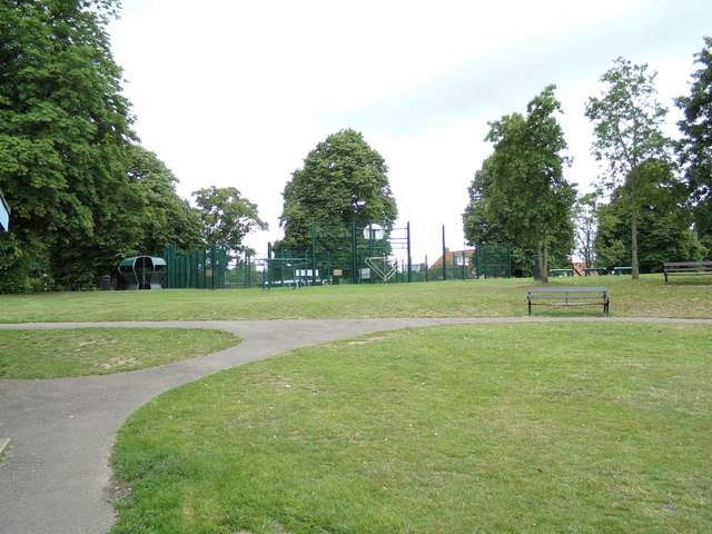 The Basketball Court at Diss Park