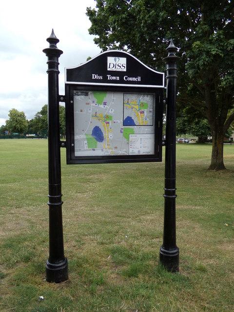 Diss Town Map at Diss Park