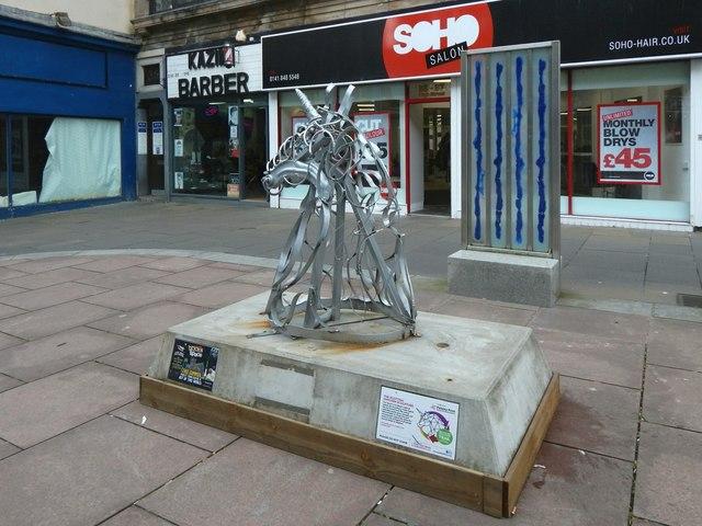 Sculpture: Scottish Unicorn