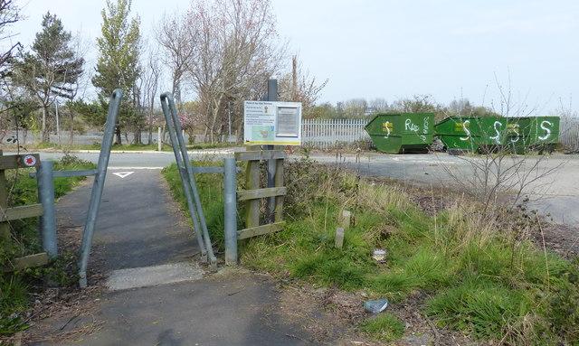 Wales Coast Path near the Point of Ayr Gas Terminal