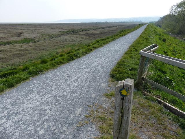 South along the Wales Coast Path at Talacre
