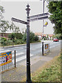 TM1179 : Signpost at Diss Park by Adrian Cable