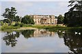 SO8844 : Croome Court and church reflected in Croome River by Philip Halling