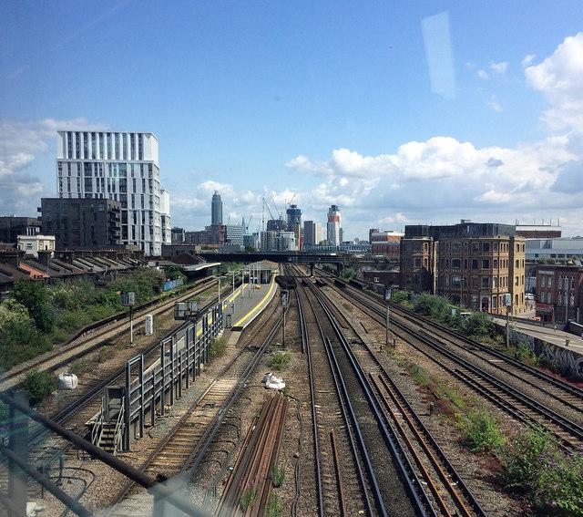 Railway near Battersea Park