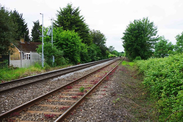 Railway tracks at St. John's, Worcester, looking in the direction of Hereford