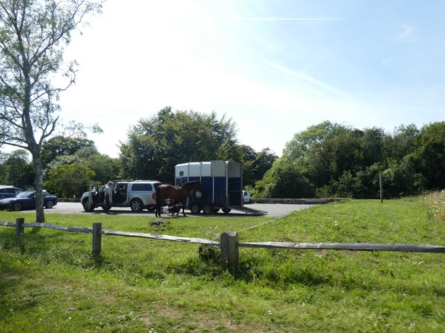 Horsebox and car park for Houghton Forest