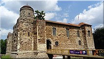 TL9925 : View of Colchester Castle from Castle Park by Robert Lamb