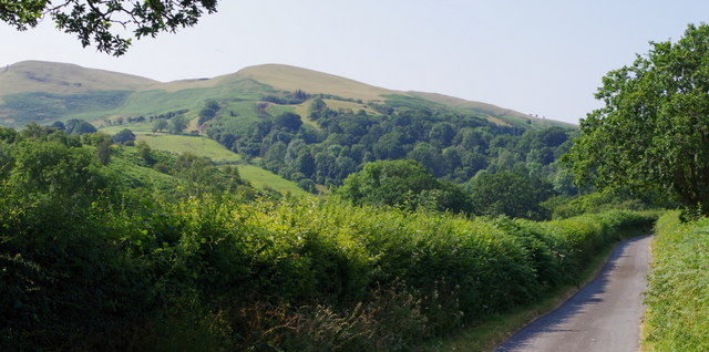 Lane with view to the Carneddau hills