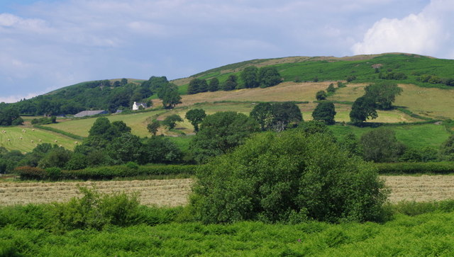 Common land, hay meadow, and hillside beyond