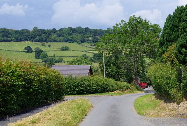 Lane in Franksbridge