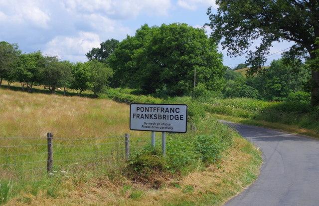 Village sign for Franksbridge