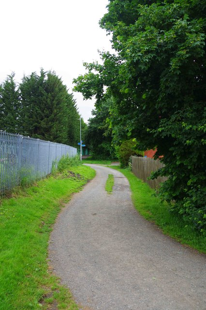 Public footpath adjacent to cemetery, St. John's, Worcester