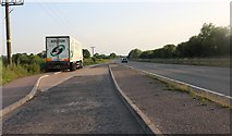 SP9670 : Layby on the A45, Higham Ferrers by David Howard