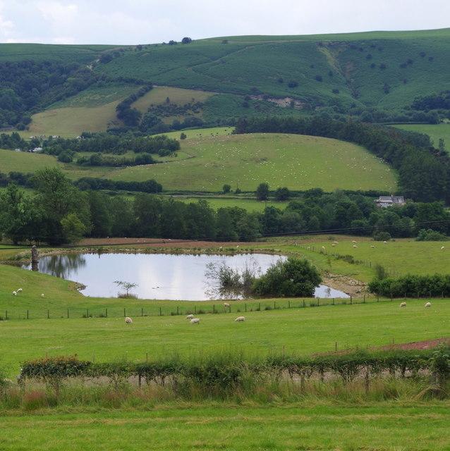 Small lake near Llansantffraed-in-Elwel