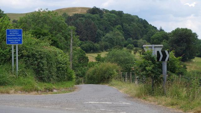 Lane to the church and Franksbridge