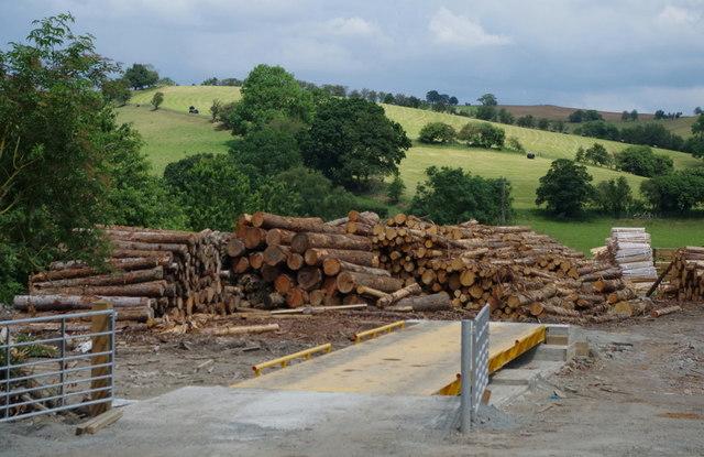 Timber yard, Llansantffraed-in-Elwel