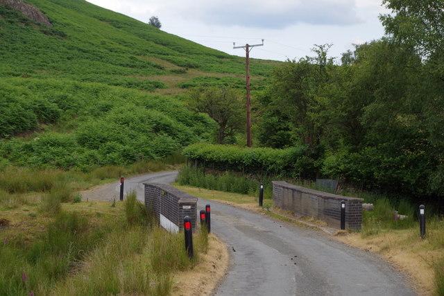 Lane and bridge near Pendre Farm