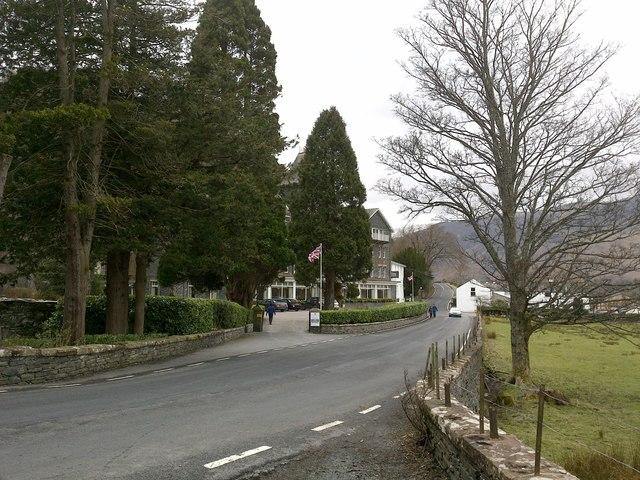 Road at Lodore Hotel