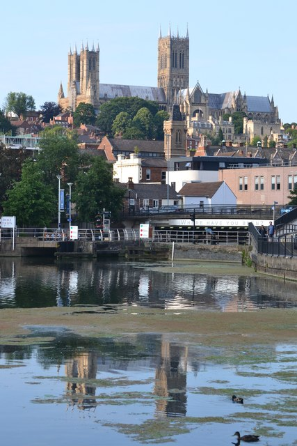 Lincoln Cathedral reflected in Brayford Pool