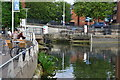 SK9771 : River Witham outflow from Brayford Pool by David Martin