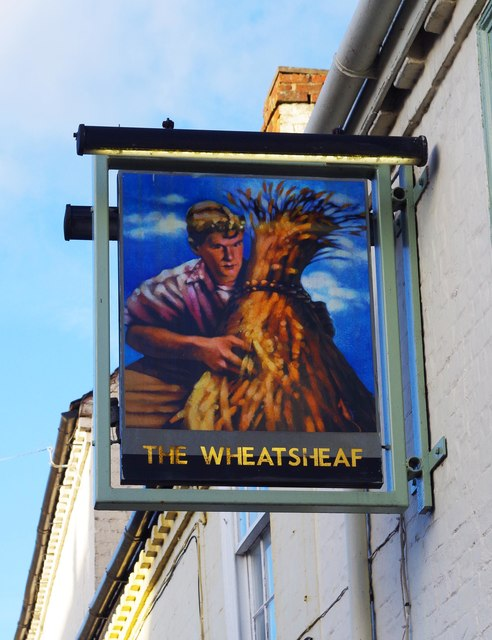 The Wheatsheaf Inn (2) - sign, 192 Henwick Road, Henwick, Worcester