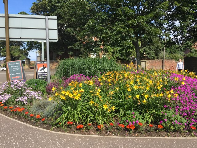 Pretty Flower Bed at Station Road Dunbar
