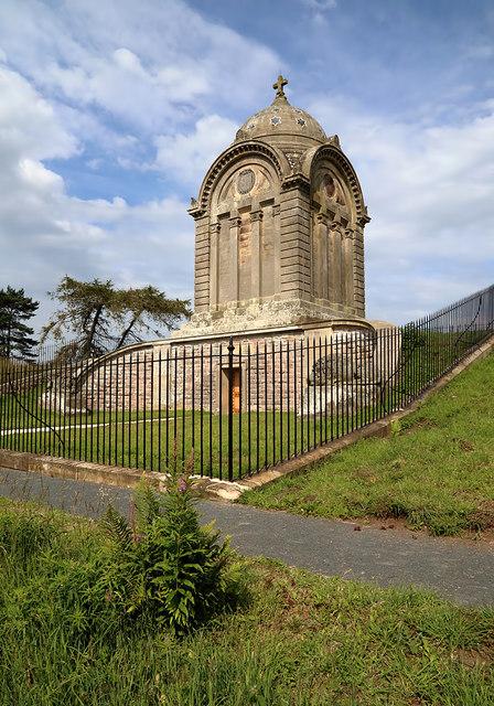 The refurbished Monteath Mausoleum on Gersit Law
