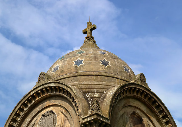 The domed roof of the Monteath Mausoleum