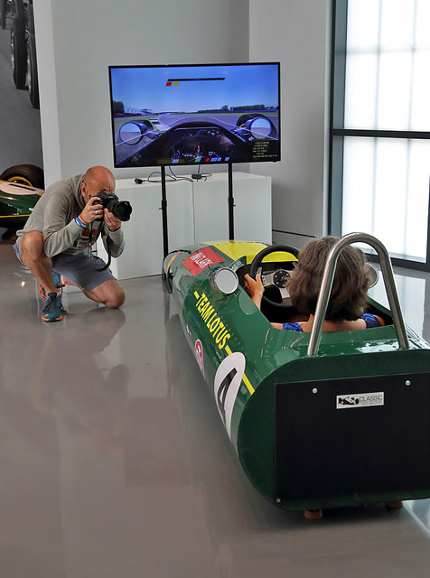 The classic race car simulator at the Jim Clark Museum, Duns