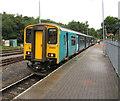 SO1107 : Cardiff Central train in Rhymney station by Jaggery
