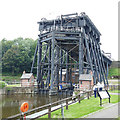 SJ6475 : Anderton boat lift and lower basin by Stephen Craven